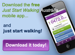 Download button for Just Start Walking app
