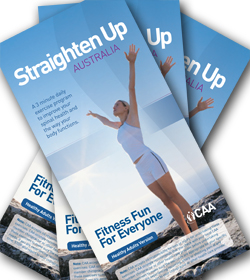 Straighten Up Australia Adults brochure cover