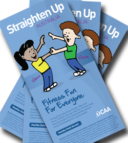 Straighten Up Australia Children's brochure cover